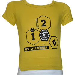 Yellow Color T- Shirt For Kids