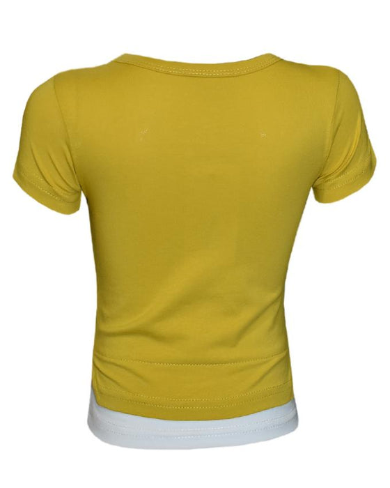Yellow Color T- Shirt For Kids - Hiffey