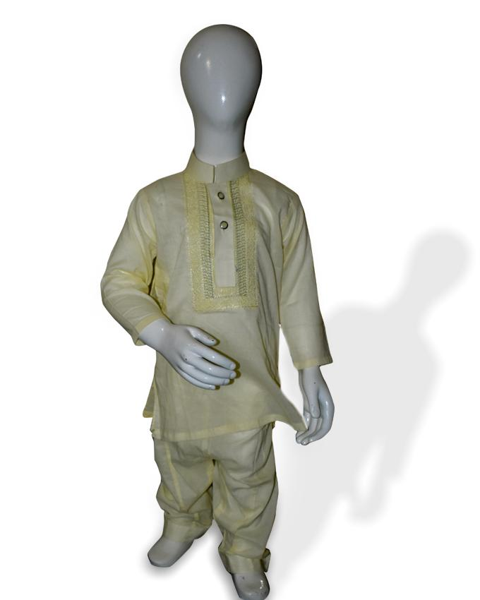 Yellow kids Kurta and Shalwar