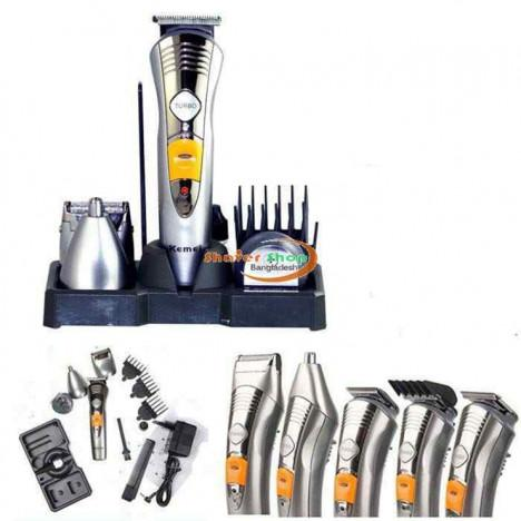 Kemei 7 in 1 Grooming Kit Shaver & Trimmer for Men - KM-580A - Hiffey