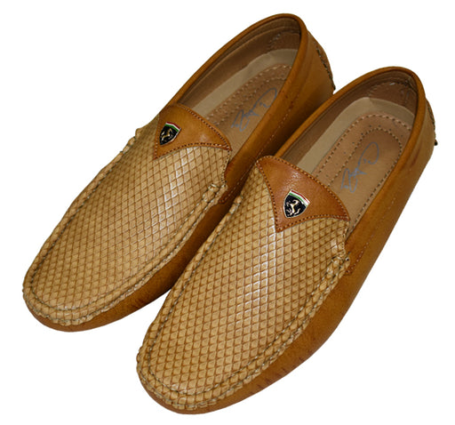 Trendy Leather Loafers for Men - Camel Brown