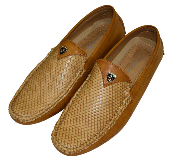 Trendy Leather Loafers for Men - Camel Brown - Hiffey