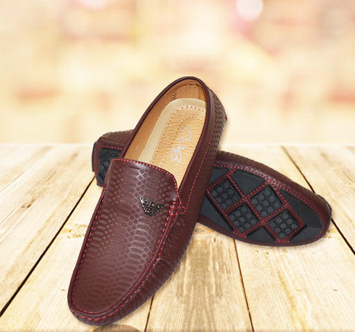 Trendy Leather Loafers for Men - Dark Brown