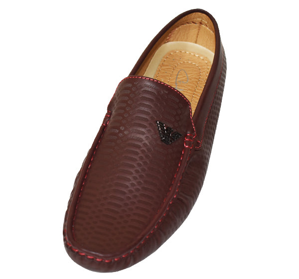 Trendy Leather Loafers for Men - Dark Brown - Hiffey
