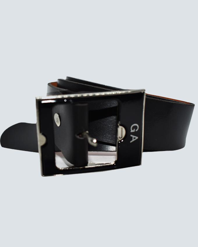 GA Leather Belts For Men - Black