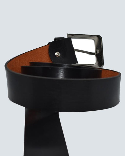 Formal Leather Belt For Men - Black - Hiffey
