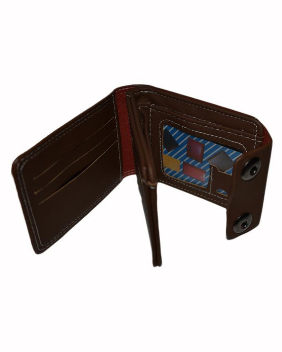 Double Clip Mens Stylish Wallet Okey - Brown - Hiffey