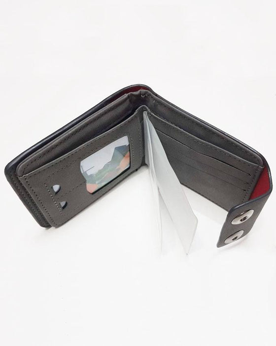 Double Clip Mens Stylish Wallet D Brand - Grey - Hiffey