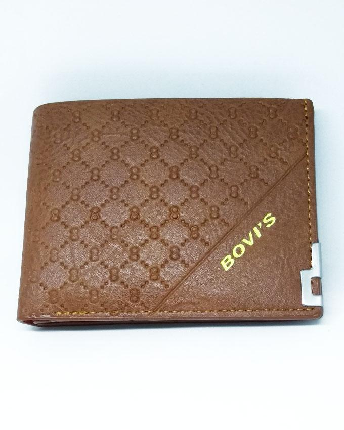 Bovis - Artificial Leather Wallet for Men - Brown
