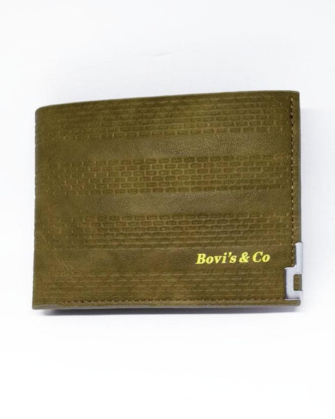 Bovis and Co - Bifold Artificial Leather Wallet for Men - Green