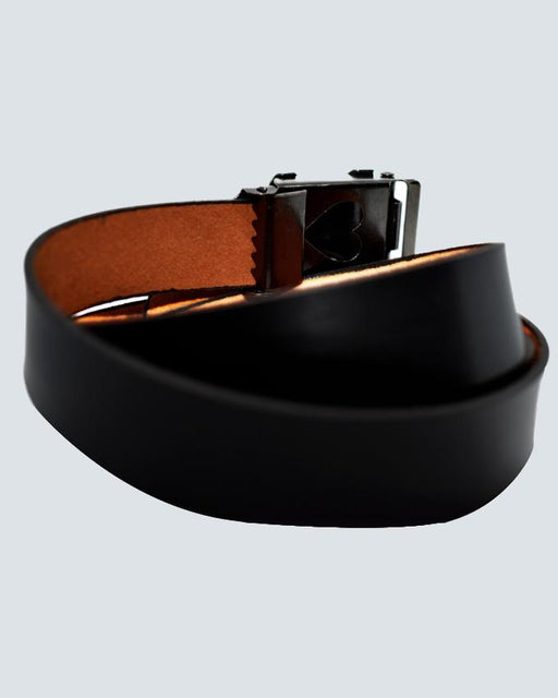 Euro Sign Buckle Belt For Kids - Black - Hiffey