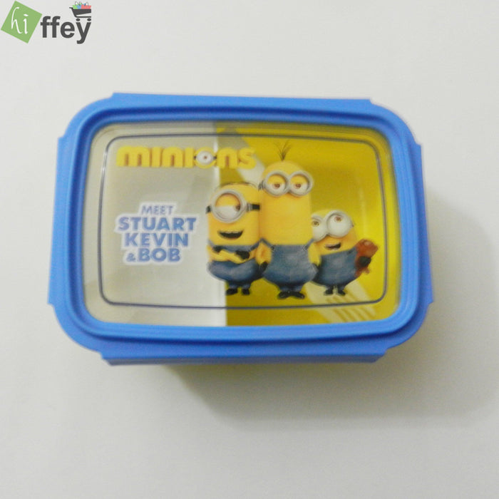 Minions Character Lunch Box with Fork - J510 - Yellow - Hiffey