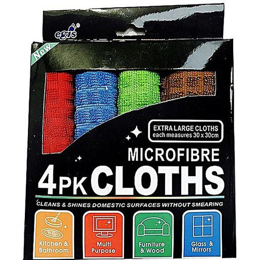 Microfibre Cloths for Cleaning - Pack of 4 - 30 x 30 cm - Hiffey