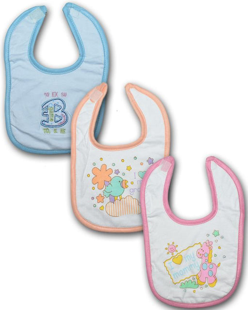Baby Bibs Water Absorbent - Pack of 3 - Hiffey
