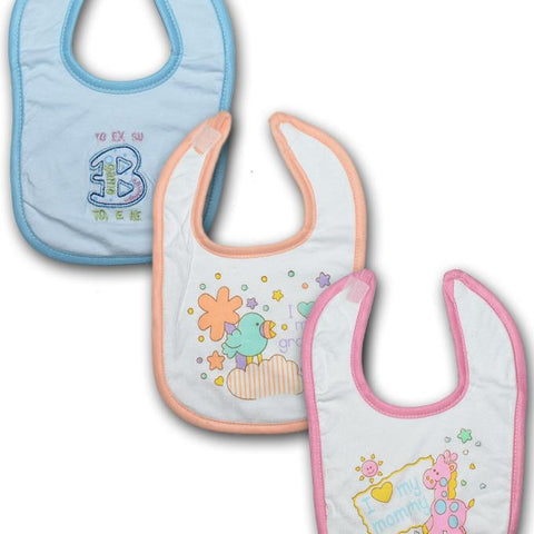 Baby Bibs Water Absorbent - Pack of 3