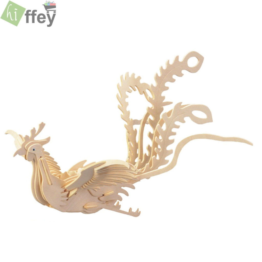 3D Puzzle Toy - Phoenix Woodcraft Construction - Hiffey
