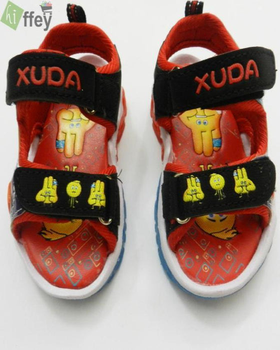 Xuda Smiley Faces Sport Sandal For Kids-Red - Hiffey