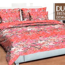 Pink Flowers Printed 3 Piece Double Bed Sheet Set - Hiffey