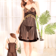 Black Stylish Nighty with Golden Less - 993
