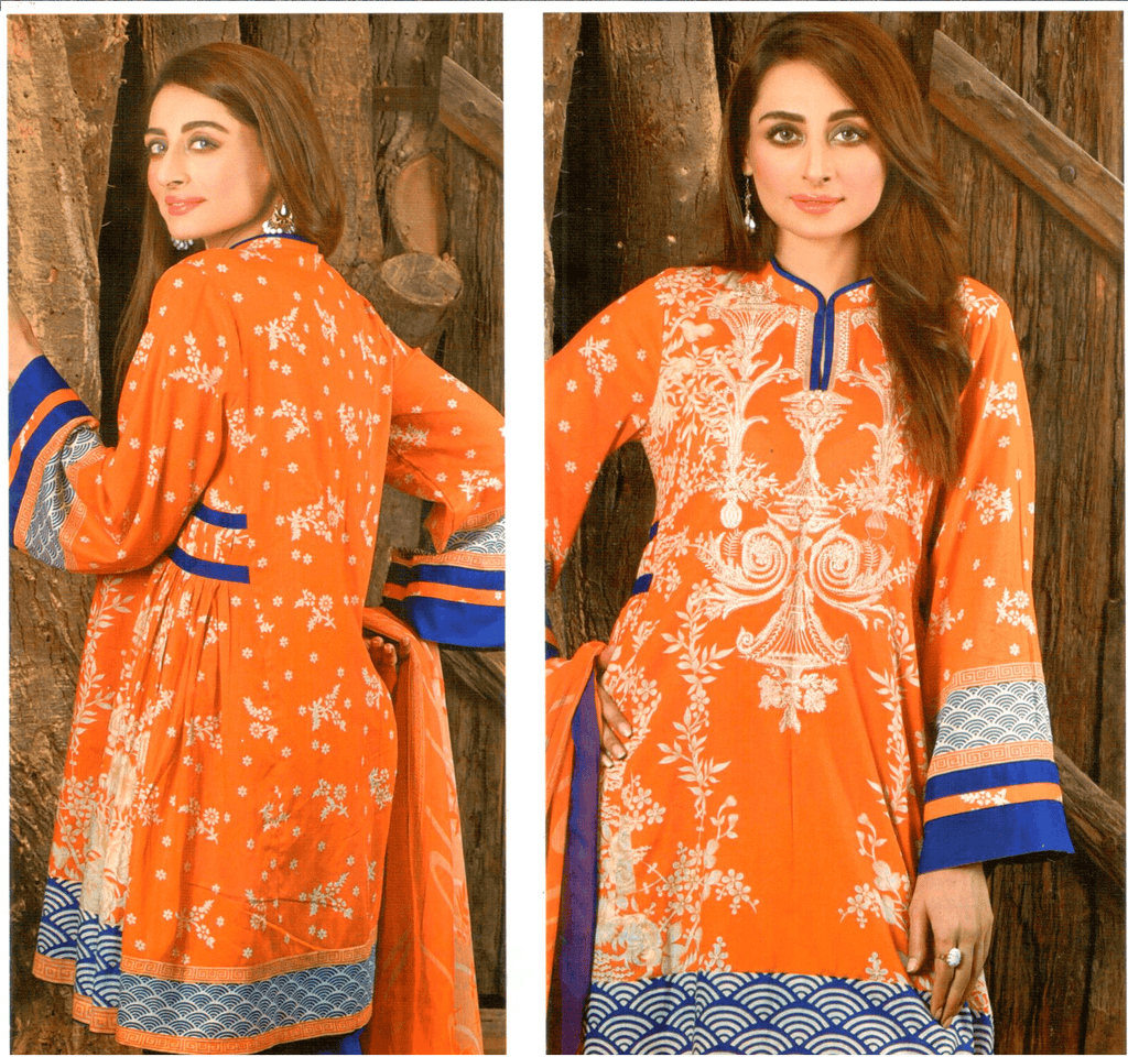 Farah Noor Embroidered 3 Piece Unstitched Mid Summer Collection - KH01