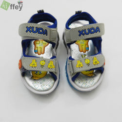 Xuda Smiley Faces Sport Sandal For Kids-Grey - Hiffey