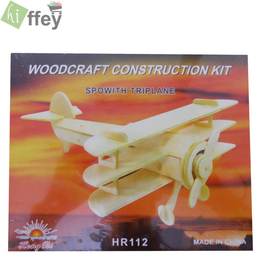 3D Puzzle Toy - Sopwith Triplane woodcraft construction - Hiffey