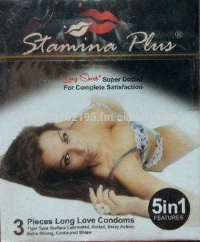 Stamina Plus Long Shock Super Dotted Condom - Pack of 3
