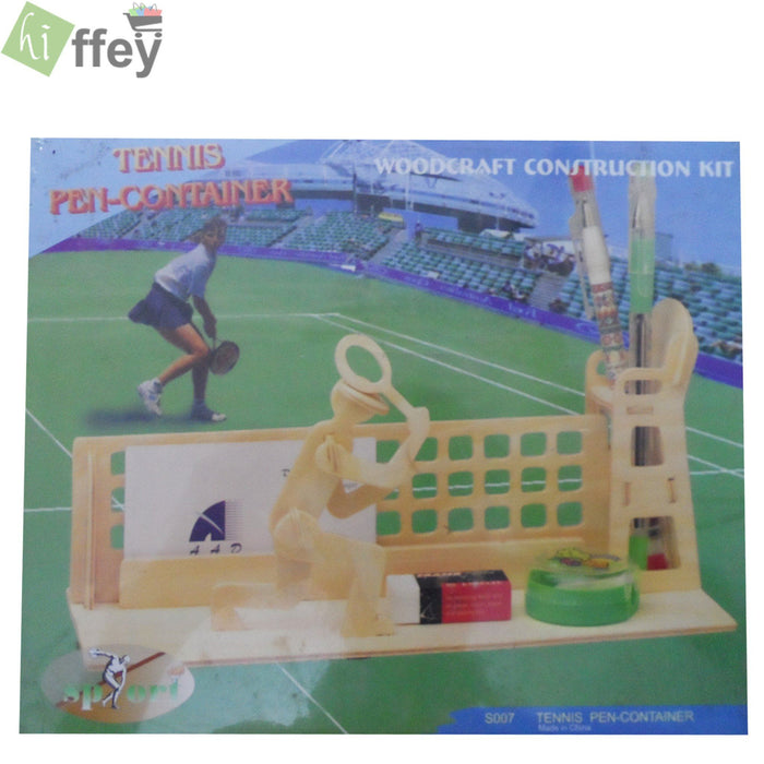 3D Puzzle Toy -Tennis Pen Container woodcraft construction - Hiffey