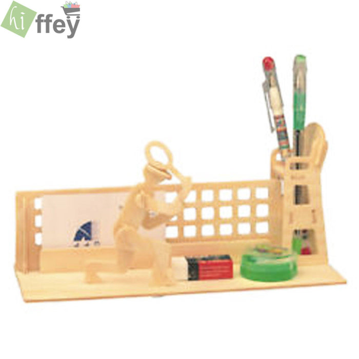 3D Puzzle Toy -Tennis Pen Container woodcraft construction
