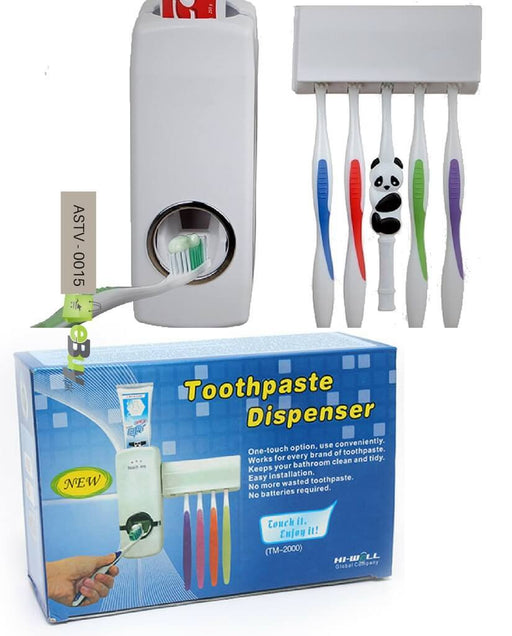 Toothpaste Dispenser & Toothbrush Holder Set - Hiffey