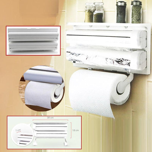 Triple Paper Dispenser - White - Hiffey