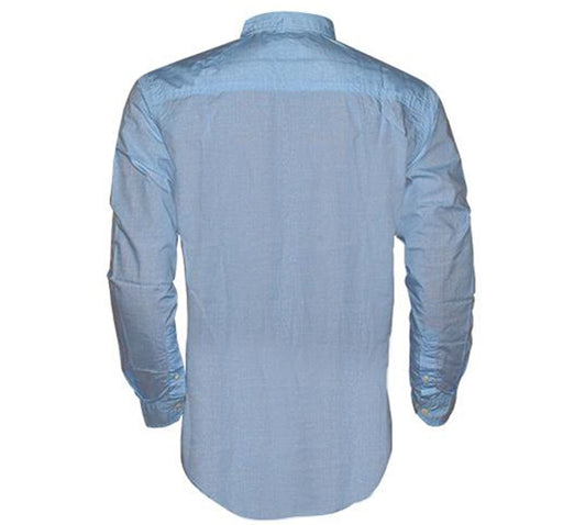 Faded Casual Shirt For Men- Light Blue - Hiffey