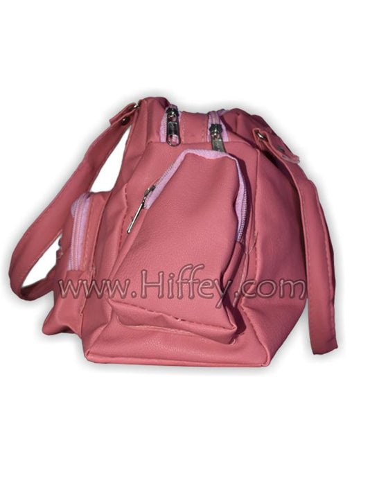 D & G Synthetic Leather 5 Pocket Purses for Women's - Baby Pink - Hiffey