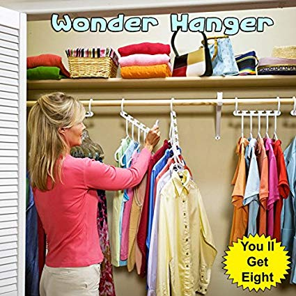 Wonder Hanger Max Closet Wardrobe Organizer - Pack of 8 - Hiffey