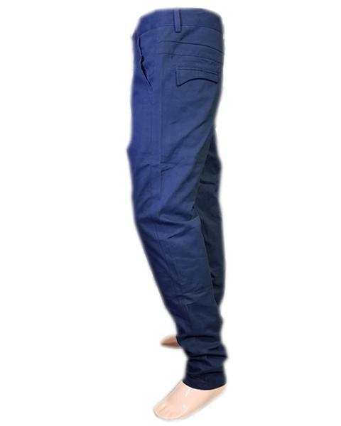 Men's Cotton Chino Pants Blue Color - Hiffey