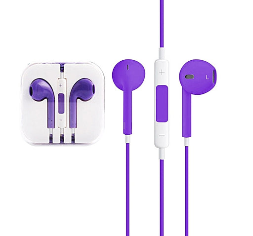 High Quality Stereo Earphone - Purple - Hiffey