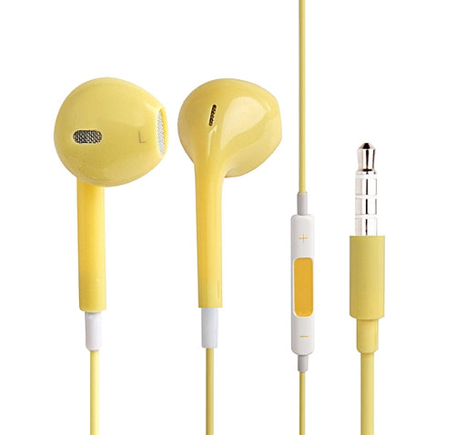 High Quality Stereo Earphone - Yellow - Hiffey