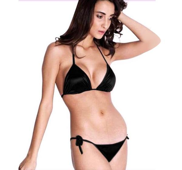 301359e363e3d Silk Padded Bikini and Swimwear Set - Black