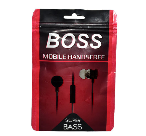 Boss Super Bass Mobile Handsfree - Black - Hiffey