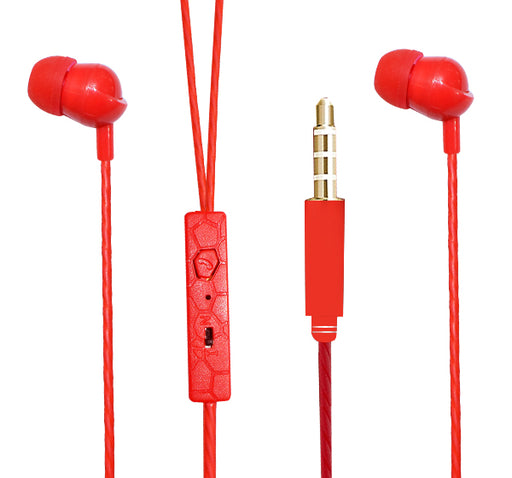 Caerfree Stereo Dynamic Earphone 18 - Red