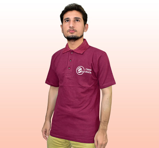 Claims Med Inc T-Shirt For Men - Maroon - Hiffey