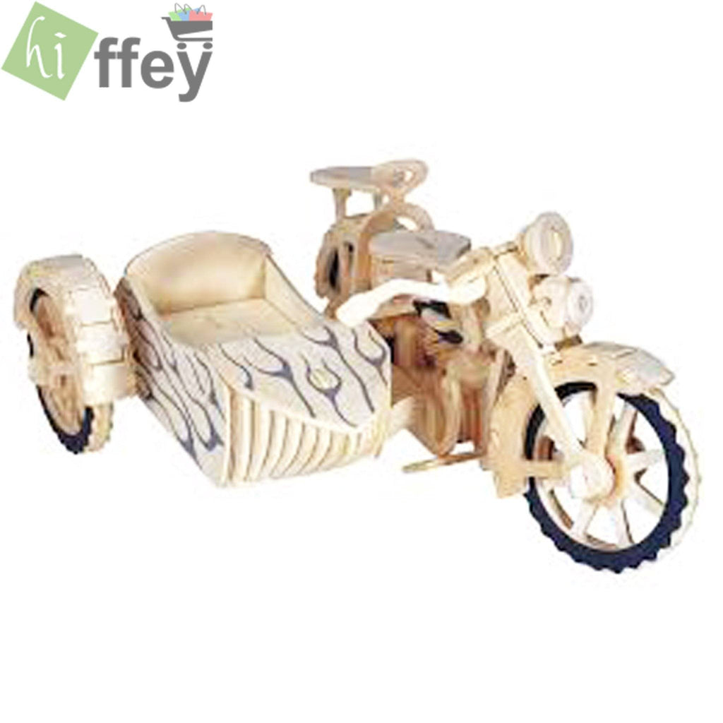 3D Puzzle Toy - cycle car Woodcraft Construction - Hiffey