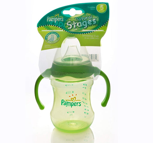 Pampers Natural 5 Stages Feeder 266ml - Green - Hiffey