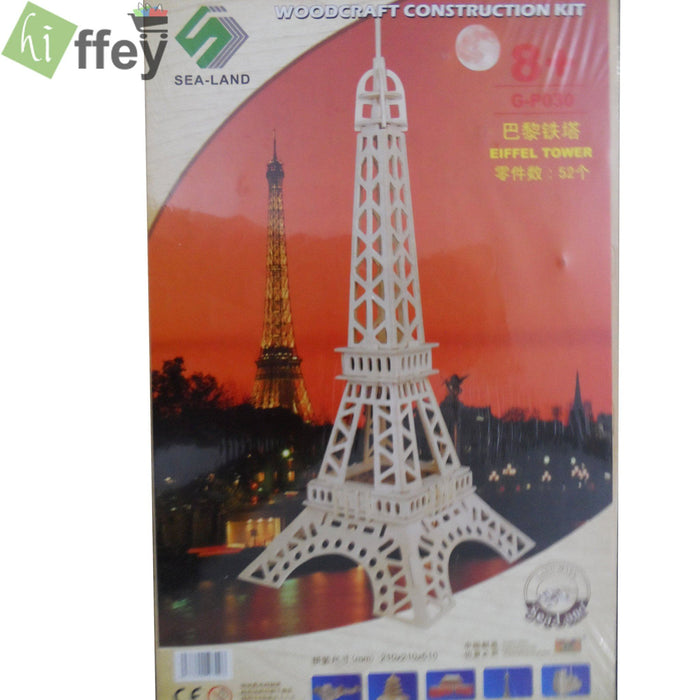 3D Puzzle Toy - Eiffel Tower Woodcraft Construction - Hiffey