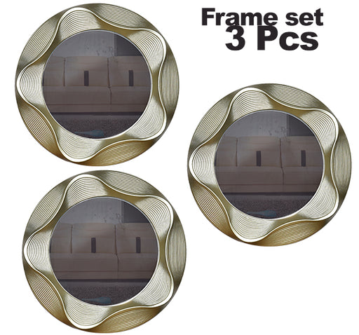 Utensils Design Mirror Wall Frame 3 Piece Set - Hiffey
