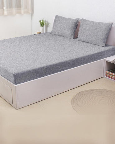 Jersey Fitted Bed Sheet -Light Grey