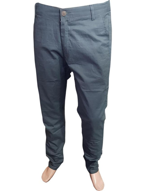Men's Cotton Chino Pants Iron Grey Clothing - Hiffey