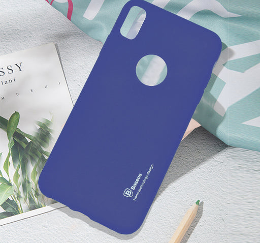 Apple Iphone XR Simple Back Cover - Blue - Hiffey