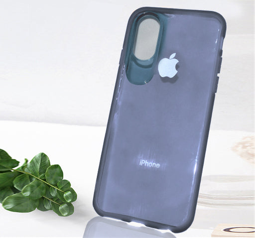 Apple Iphone X See Through Simple Back Cover - Black - Hiffey