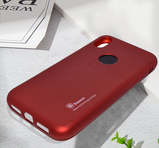 Apple Iphone XS-Max Simple Back Cover - Maroon - Hiffey